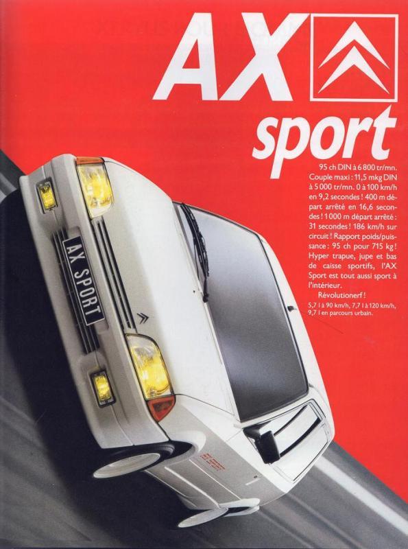 1987 Ax Sport phase 1 pub AC n 19