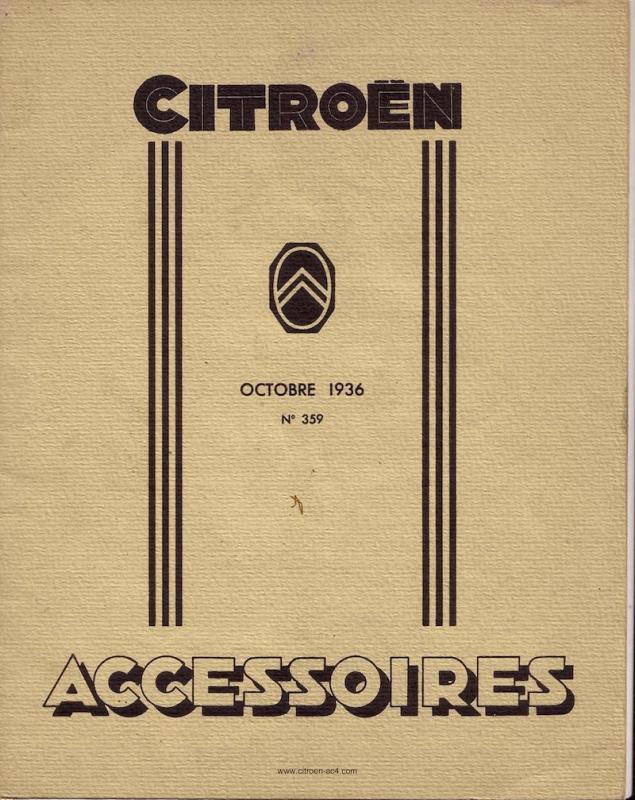 Catalogue accessoires octobre 37