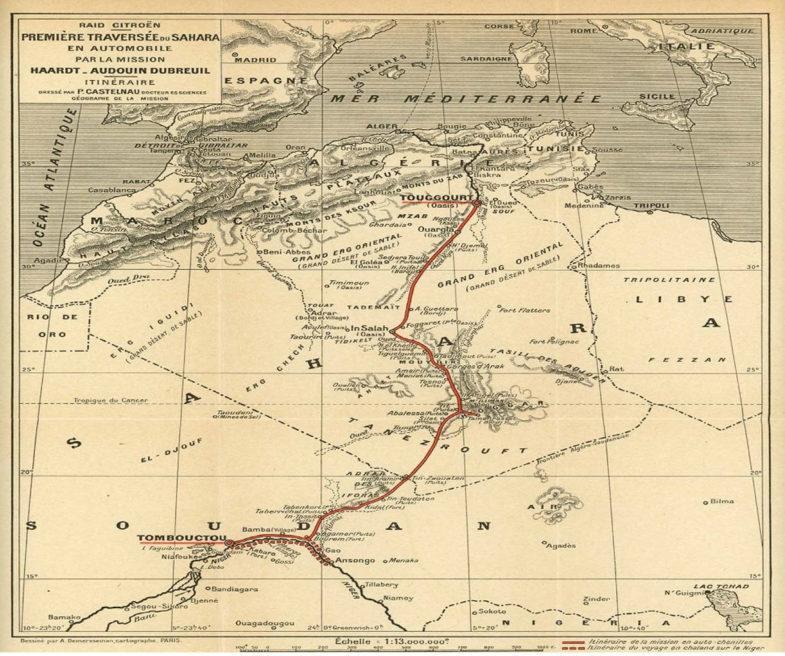 Citroen scarabee dor traversee sahara 1922 785x656