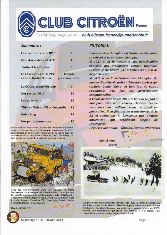 Engrenage n 10 janvier 2012