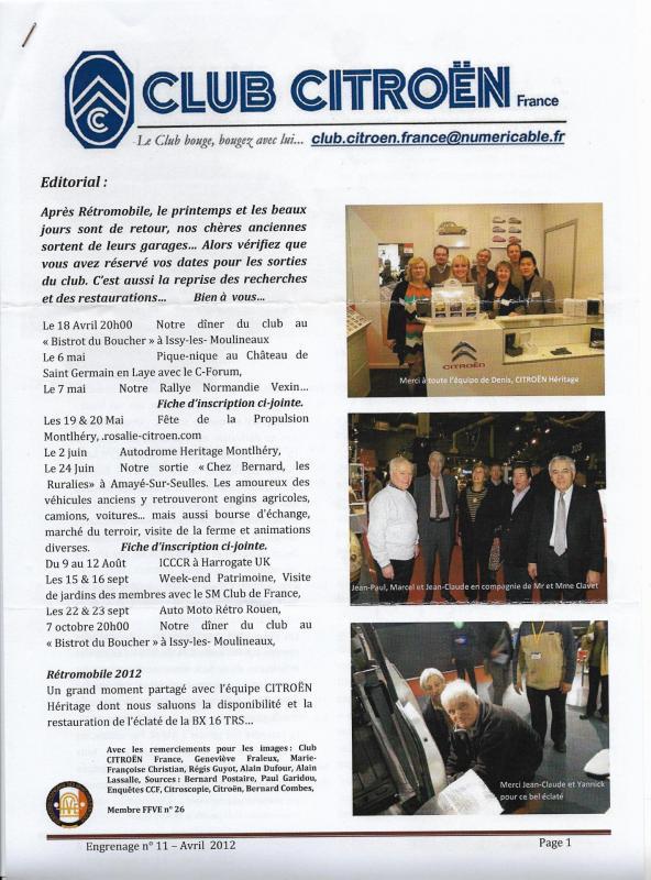 Engrenage n 11 avril 2012