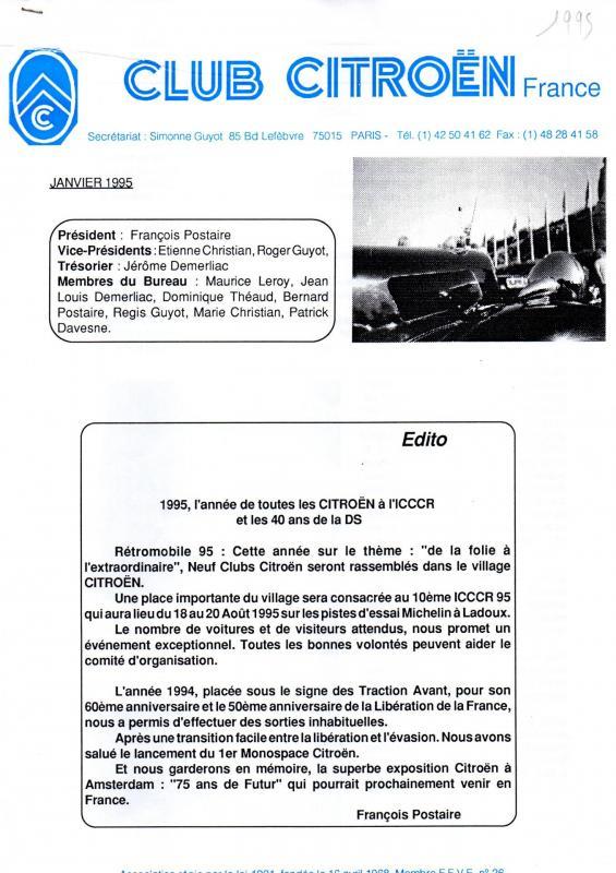 Revue ccf n 41b janvier 95