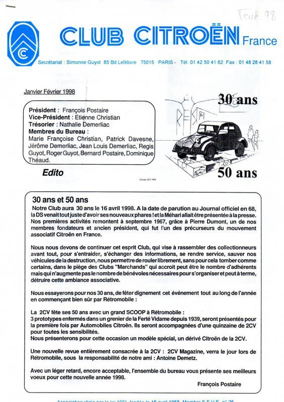 Revue ccf n 41d janvier 98