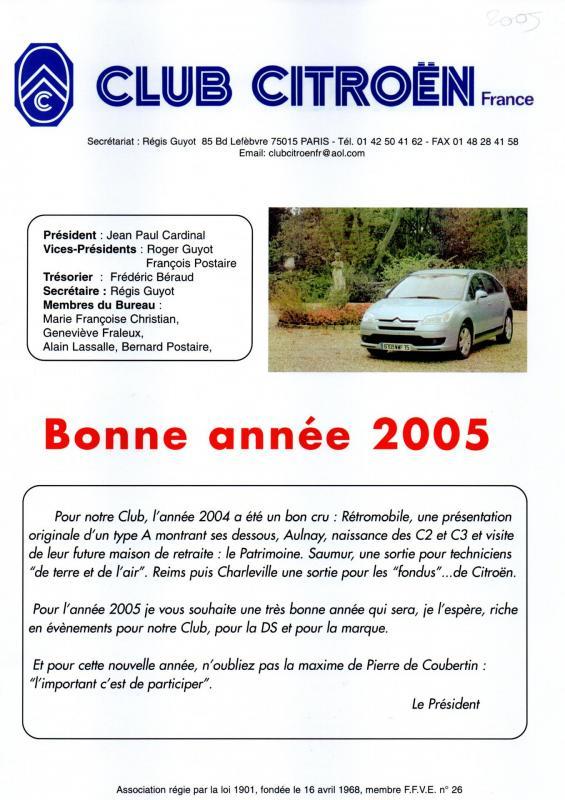 Revue ccf n 42 e janvier 2005