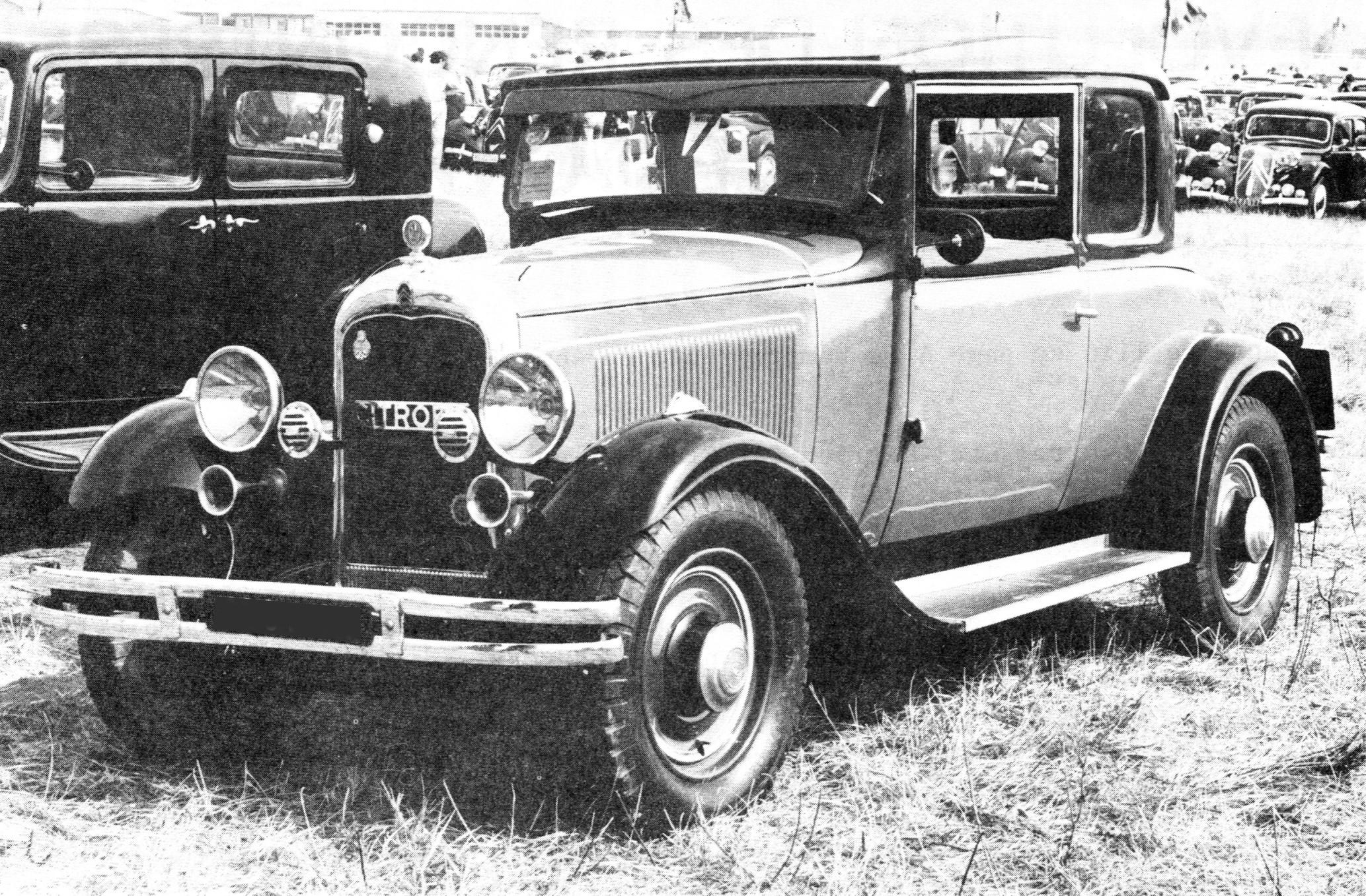 1930 Citronën C4G faux cabriolet 4 glaces
