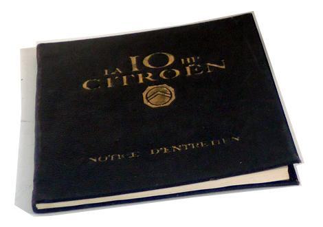 1919 La 10 HP Citroën son entretien