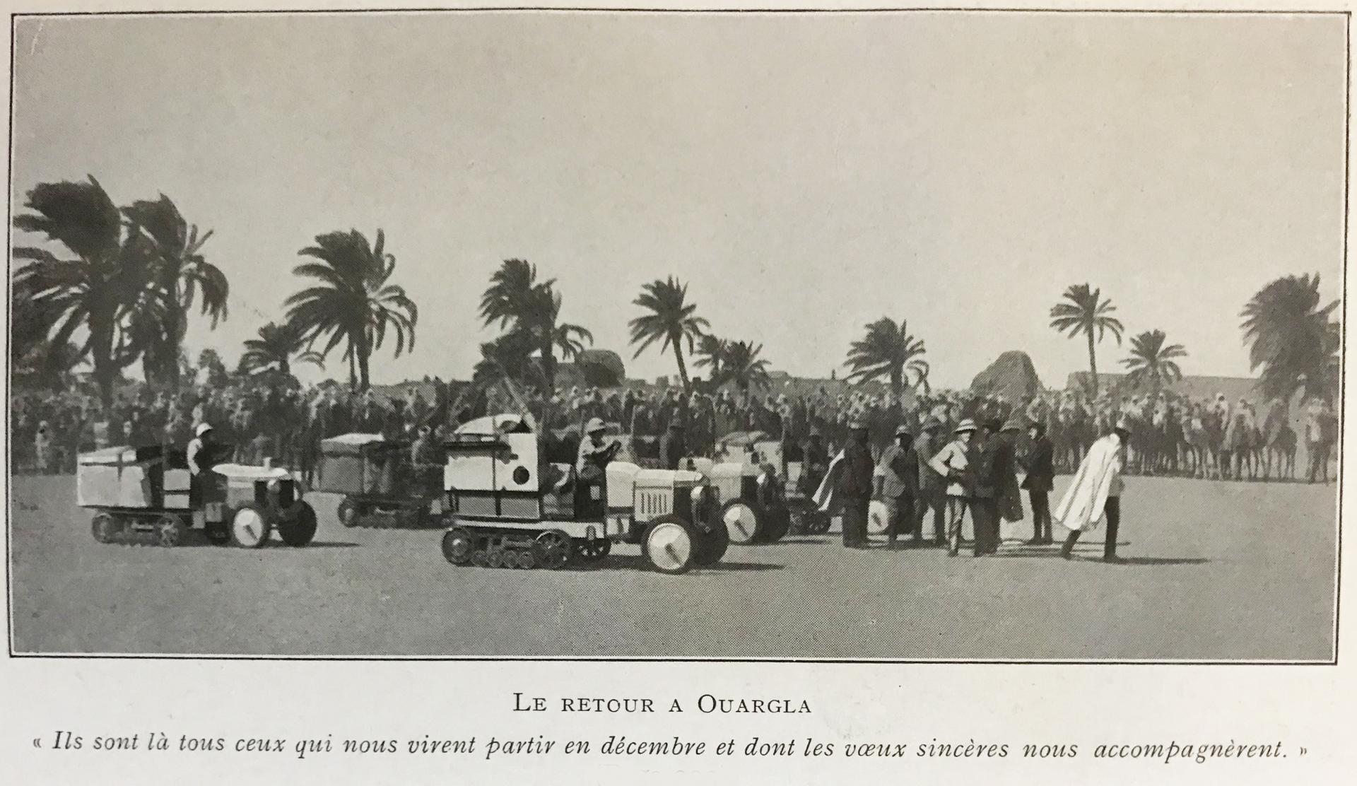 1923 Le retour à Ouargla des autohenilles Citroën