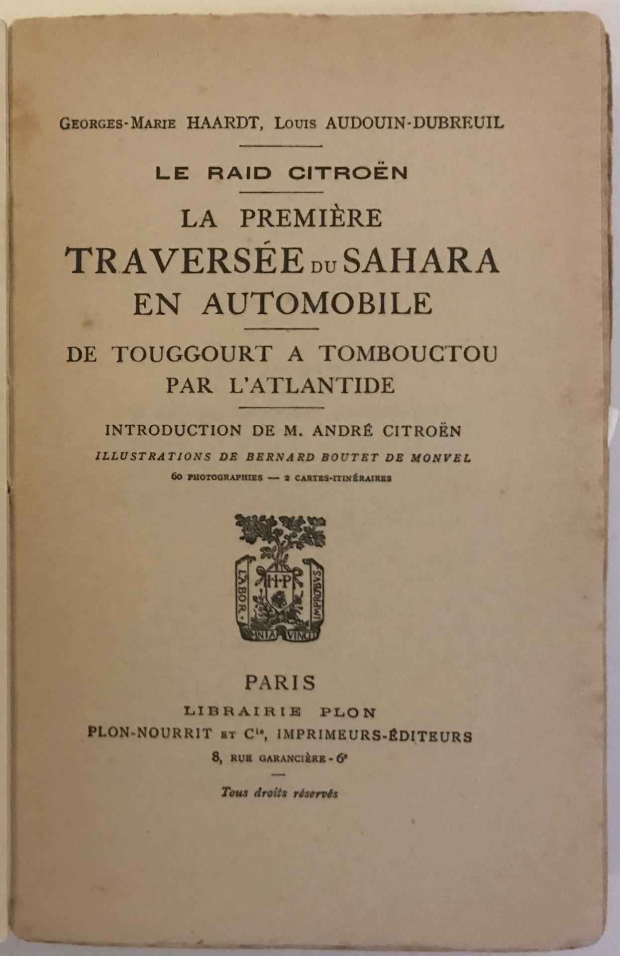 1923 Première traversée du Sahara en autochenilles Citroën