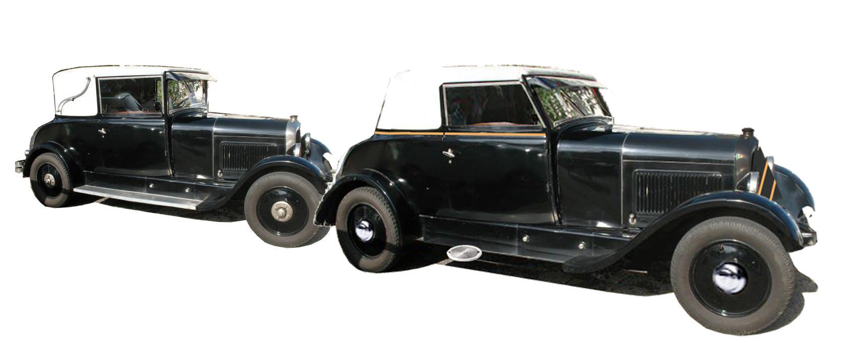 1927 Comparaison B14 faux cabriolet et Ferblantine