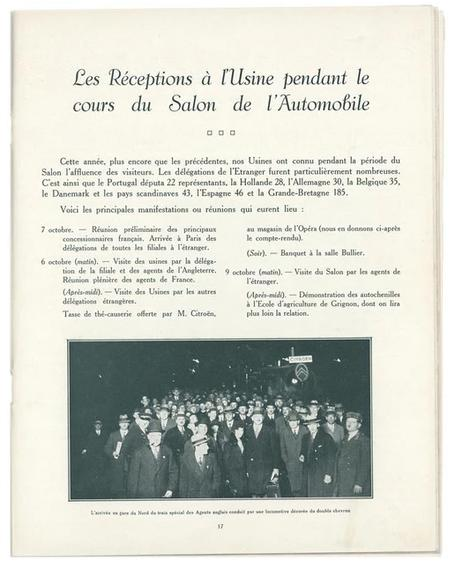 1929 Visites usines Citroën
