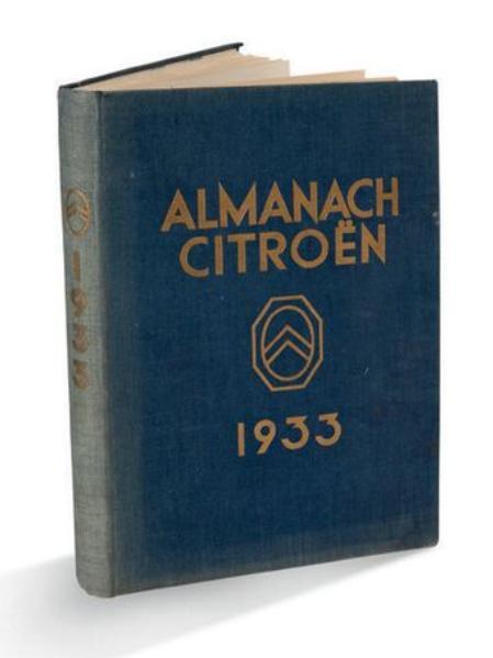 1933 Almanach Citroën