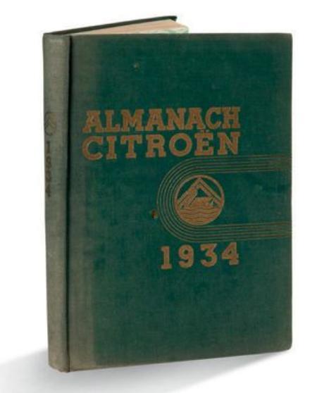 1934 Almanach Citroën