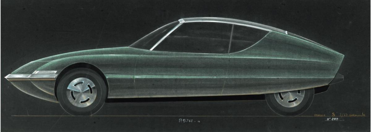 1967 Etude de style Citroën SM - Archives Terre Blanche