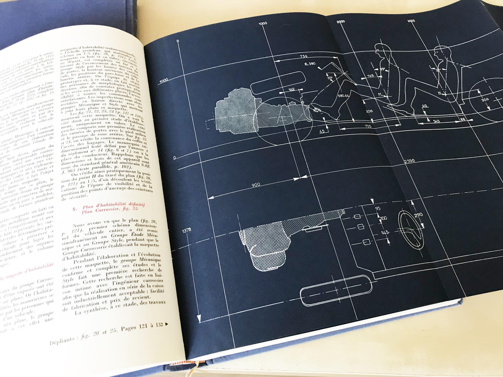 1971 Plan d'habitabilité Citroën DS - Encyclopédie