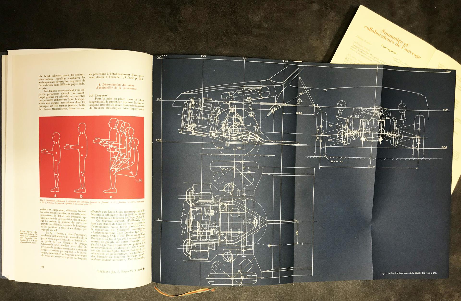 1971 Plan implantation mécanique / carrosserie Citroën GS