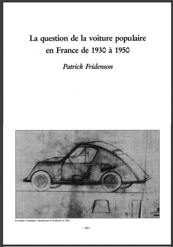 1988 Genèse de l'innovation: la 2 CV Citroën