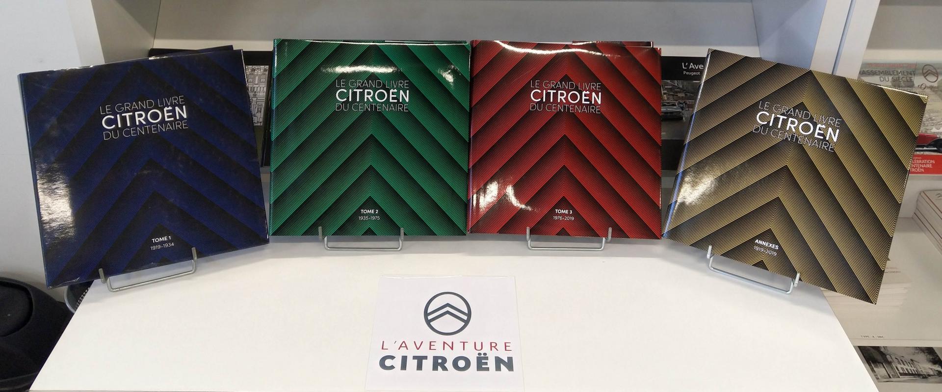 2021 Le Grand Livre Citroën en 4 tomes