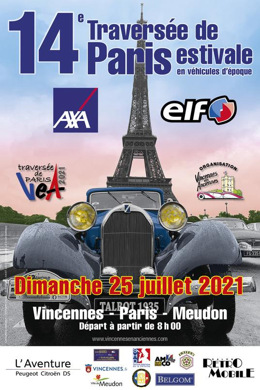 Affiche 2021 traversee estivale de paris