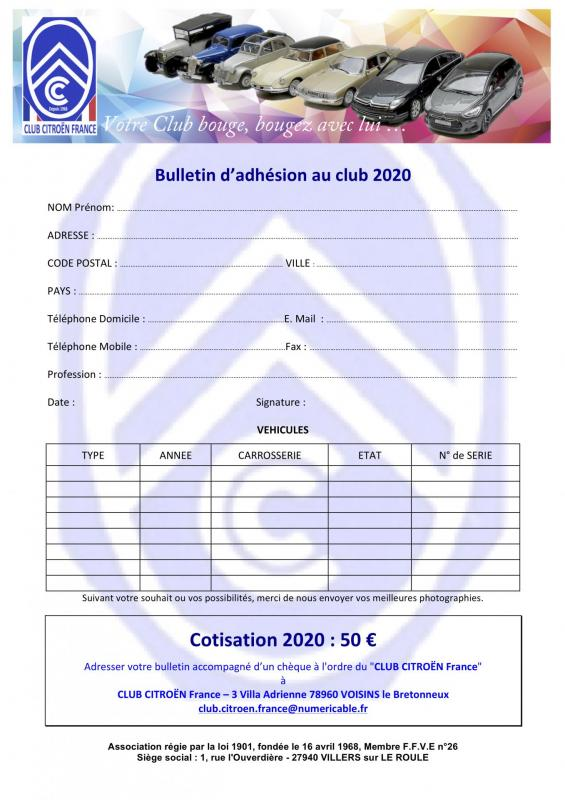 Bulletin inscription club citroe n 2020doc 1