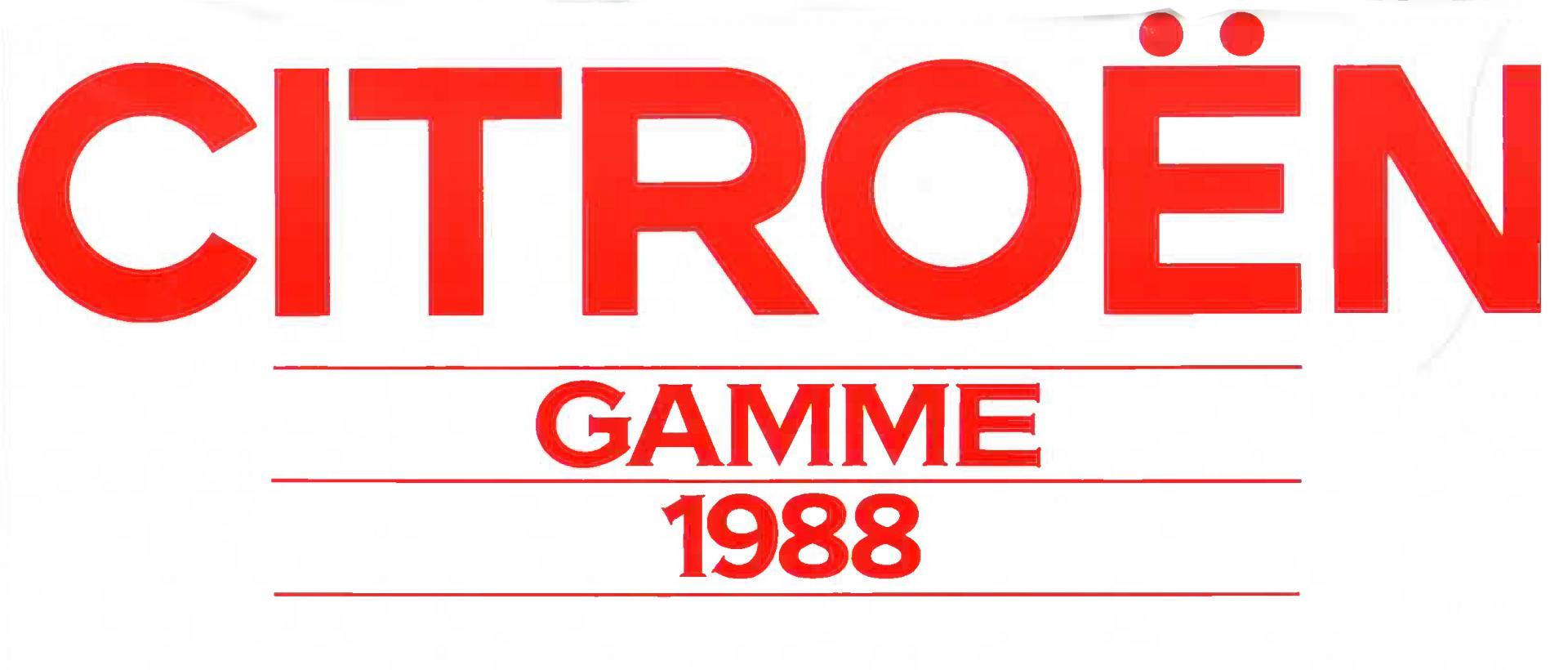 Image Gamme Citroën Année modèles 1988