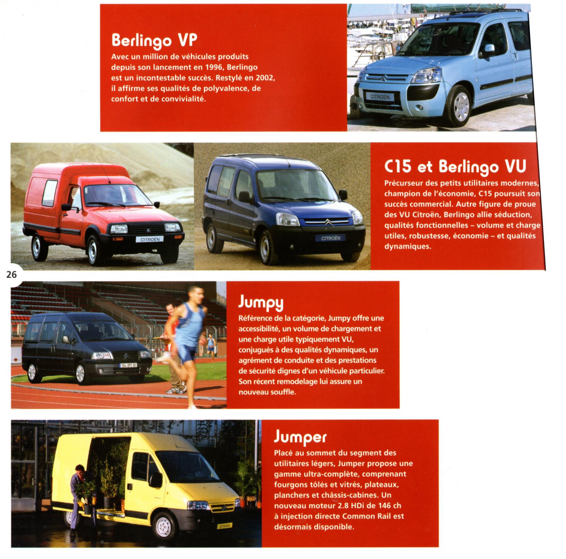 Image gamme Citroën 2004 2005