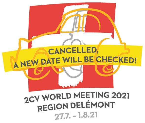 Worl Meeting 2CV 2021 Suisse annulé