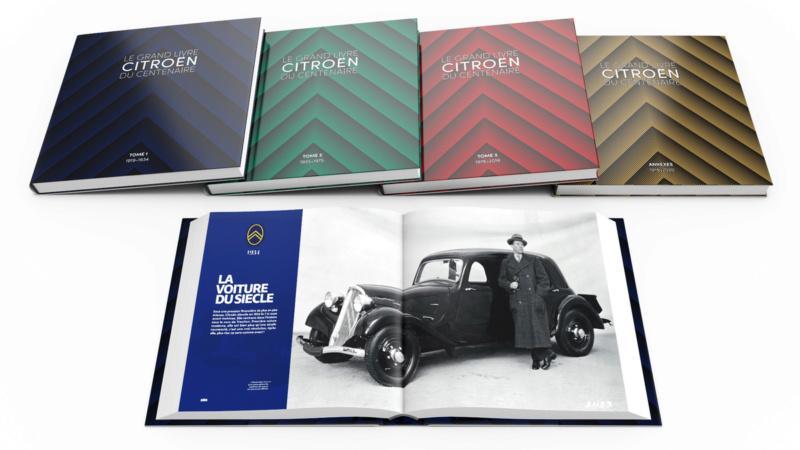 Le grand Livre Citroën en 4 tomes